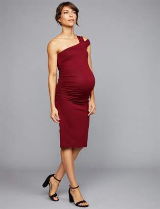 Isabella Oliver One Shoulder Maternity Dress