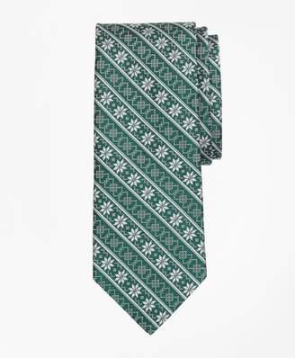 Brooks Brothers Snowflake Stripe Tie