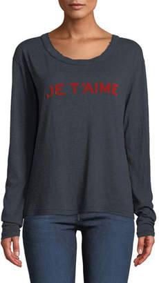 Zadig & Voltaire Willy Chine Scoop-Neck Long-Sleeve Tee