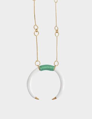 Aurelie Bidermann Caftan Moon baby horn necklace