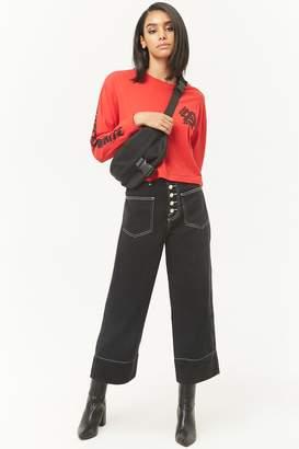 Forever 21 Wide-Leg Capri Jeans