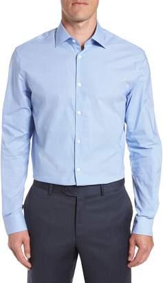 John Varvatos Microcheck Regular Fit Dress Shirt