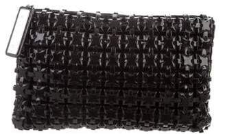Roger Vivier Woven Patent Leather Clutch