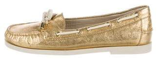 Michael Kors Metallic Boat Shoes