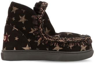 Mou Mini Eskimo Stars Shearling Ankle Boots