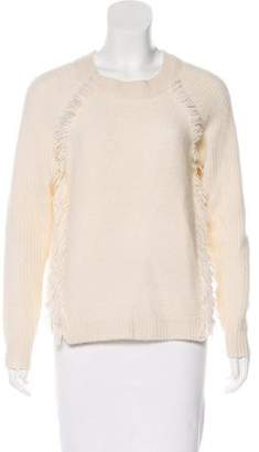White + Warren Fringed Cashmere Sweater