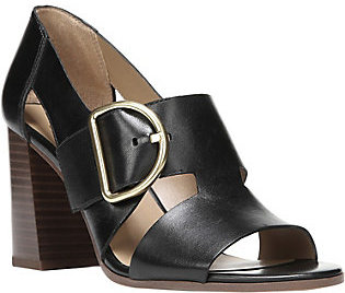 Franco Sarto Leather Cut-out Pumps - Marketa $100 thestylecure.com