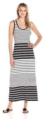 Calvin Klein Women's Sleeveless Striped Maxi Dress