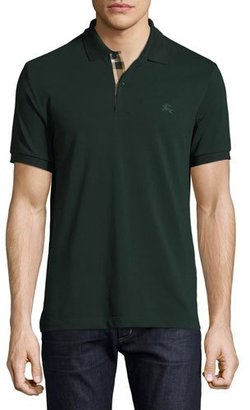 Burberry Short-Sleeve Oxford Polo Shirt, Racing Green $175 thestylecure.com