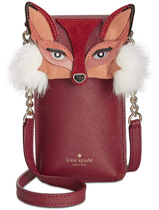 Kate Spade Fox-Applique Phone Crossbody