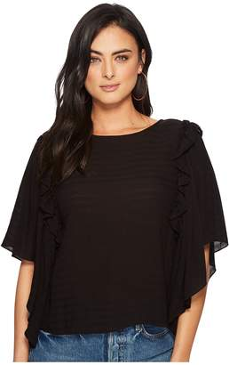 1 STATE 1.STATE Ruffle Shoulder Bell Sleeve Blouse Women's Blouse