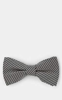 "Valentino Men's ""V"" Silk Jacquard Bow Tie - Navy"