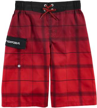 ZeroXposur Boys 8-20 Plaid Swim Trunk