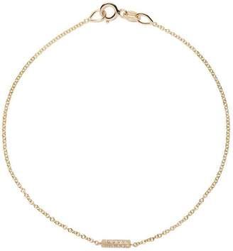 Lizzie Mandler Fine Jewelry ナイフエッジ ダイヤモンド バー ブレスレット 18Kイエローゴールド