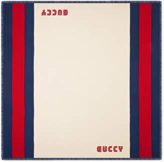 Gucci Guccy Web modal silk scarf