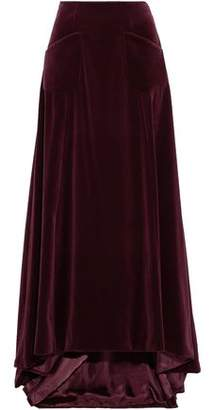 Carolina Herrera Cotton-Velvet Maxi Skirt
