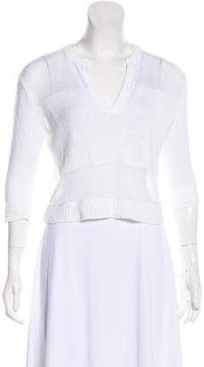 Alice + Olivia Cropped V-Neck Top
