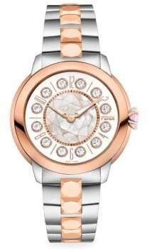 Fendi IShine Sterling Silver& 18K Rose Gold Watch