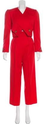 Bill Blass High-Rise Wide-Leg Pantsuit Coral High-Rise Wide-Leg Pantsuit