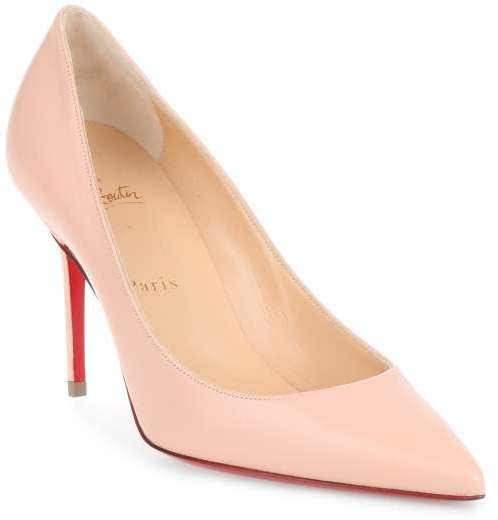 Christian Louboutin  Christian Louboutin Decollete 554 85 powder pink leather pump