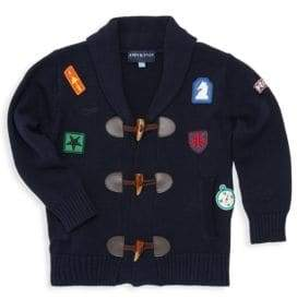 Andy & Evan Little Boy's Patch Detail Cardigan