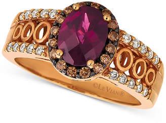 Le Vian Chocolatier Raspberry Rhodolite (1-1/3 ct. t.w.) & Diamond (1/3 ct. t.w.) Ring in 14k Rose Gold $2,971 thestylecure.com