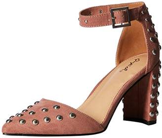 Qupid Women's Studded Chunky Heel d'orsey Pump