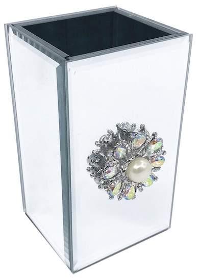 Flower Brooch/Pearl Tumbler - Mirror