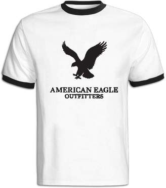 American Eagle Outfitters ASKKEEEN Mens Short Sleeve Contrast Color T-Shirt