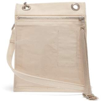 Rick Owens Plastic Pocket Canvas Cross Body Bag - Mens - Beige