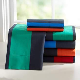 Pottery Barn Teen Rugvy Stripe Sheet Set, Navy/Strong Blue, Full