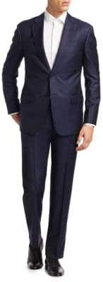 Armani Collezioni Slim-Fit Tonal Striped Wool Suit