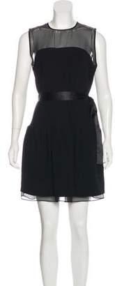 Diane von Furstenberg Sheer-Accented Sheath Dress