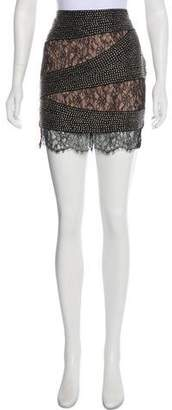 Haute Hippie Studded Silk Skirt