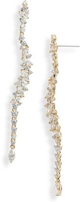 Nadri Tango Scattered Linear Earrings