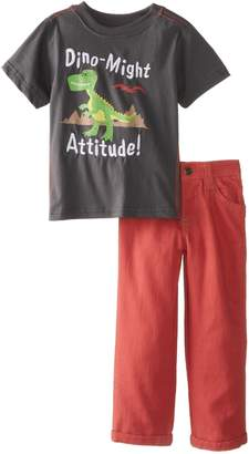 Nannette Baby Boys' 2 Piece Dino Might Pullover and Pant