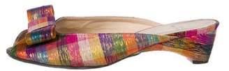Stuart Weitzman Metallic Peep-Toe Sandals