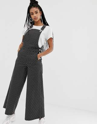 Daisy Street relaxed overalls in polka dot