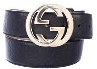 Gucci Leather GG Belt