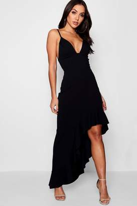 boohoo Boutique Ella Strappy Frill Detail Maxi Dress