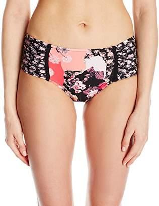 Seafolly Women's Ruched Side Retro Full Coverage Bikini Bottom Swimsuit