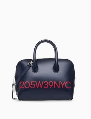 Calvin Klein logo small satchel in calf leather