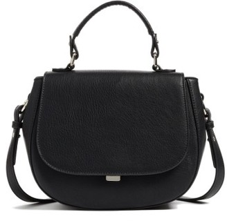 Chelsea28 Kyle Faux Leather Saddle Bag - Black $79 thestylecure.com