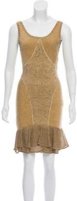 Zac Posen Metallic Bodycon Dress