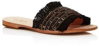 Kate Spade Women's Solaina Embellished Fringe Slide Sandals