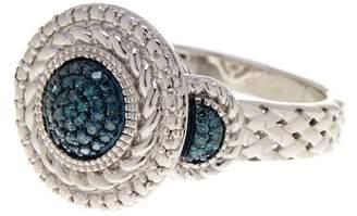 Savvy Cie Blue Diamond Pave Ring - 0.20 ctw