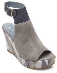 Matisse Harlequin Geometric Suede Wedge Sandals