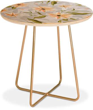 Deny Designs Iveta Abolina Bertadene Garden Ii Round Side Table