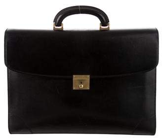 Valextra Textured Leather Briefcase