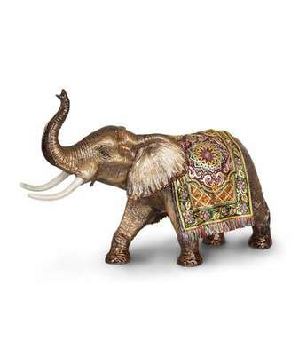 Jay Strongwater Tapestry Large Elephant Figurine